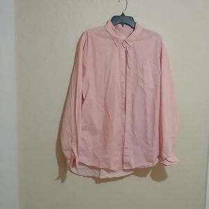 Pink patterned Gap button down, slim fit